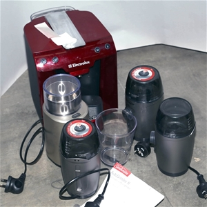 Breville Coffee Maker Grinder Not Working : ELECTROLUX Coffee Machine & 4xSUNBEAM & BREVILLE Coffee Grinders. N.B. Mo Auction ...