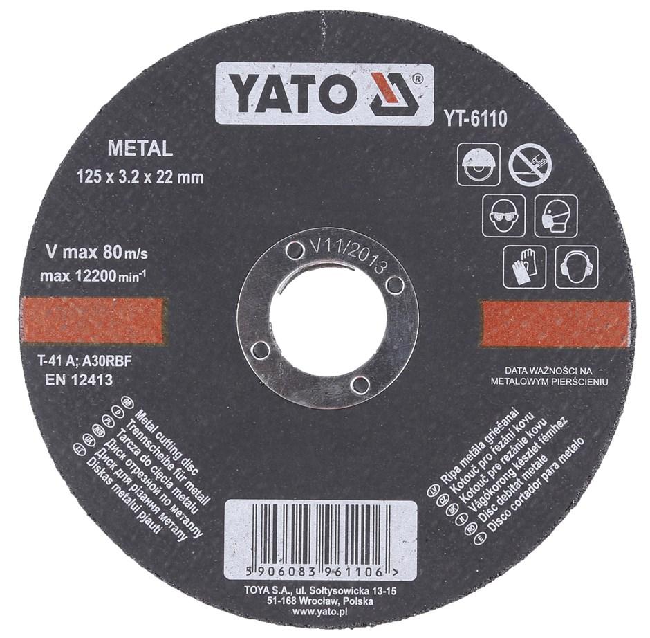 25 x YATO Metal Cutting Discs 125 x 3.2 x 22mm. Buyers Note - Discount Frei