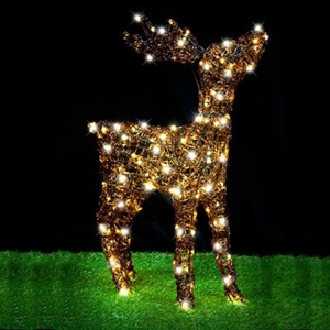 Christmas Led Acrylic Reindeer Stand Head Up War