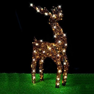 Christmas Led Acrylic Reindeer Stand Warm White