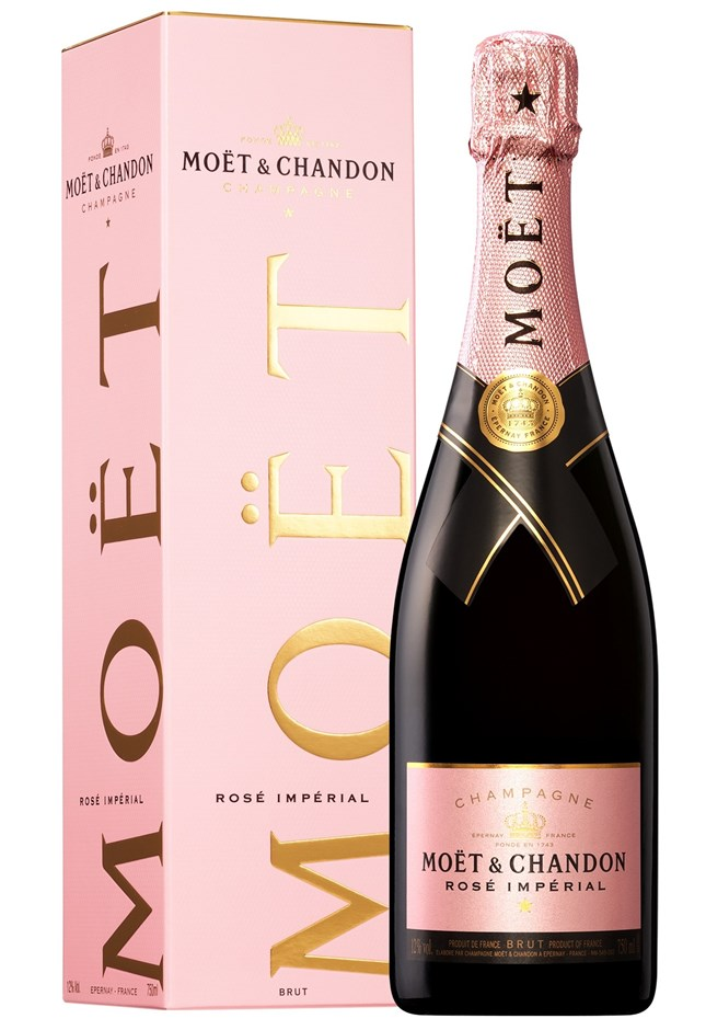 Moët & Chandon Rosé `Impérial` NV (6 x 750mL Giftboxed), Champagne, France.