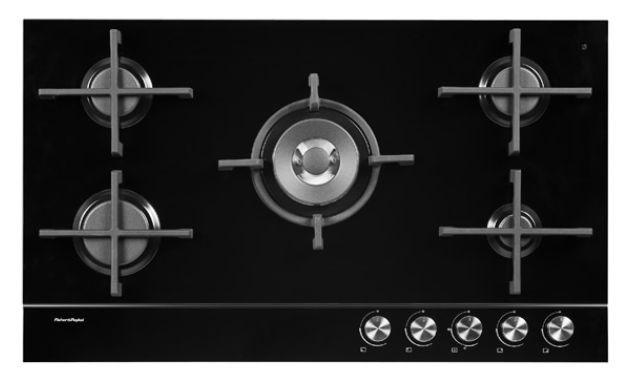 Fisher & Paykel 90cm Gas Cooktop (Black) (CG905DLPGB1)