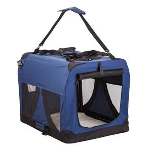 Portable Soft Dog Crate L - BLUE