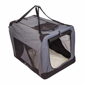 Portable Soft Dog Crate XL - GREY