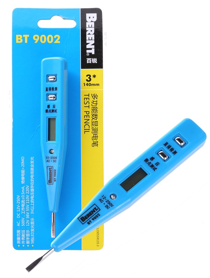 6 x BERENT Digital Voltage Testers With Pocket Clips. Buyers Note - Discoun