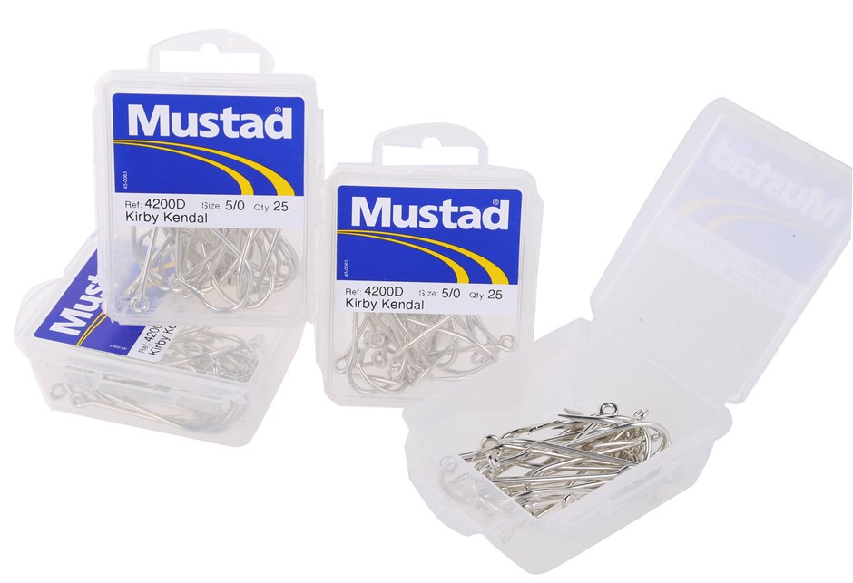 4 Packs of 25 x MUSTAD Gang Fish Hooks Size 5/0 KIRBY KENDAL. Buyers Note -