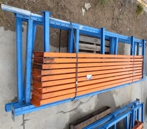 3 bays of dexion extension pallet racking location for 3 bays