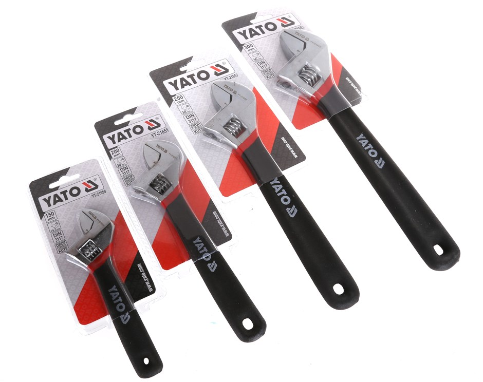 4 x YATO Adjustable Wrench / Shifter 150mm, 200mm, 250mm, 300mm. Buyers Not