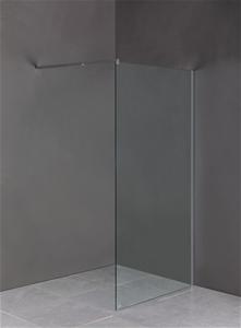 1200 x 2100mm Frameless 10mm Safety Glas