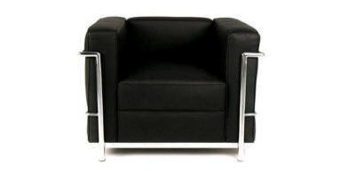 Replica Black Single Le Corbusier Leather Sofa