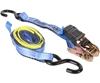 2 x Ratchet Tie Down Assemblies, 25mm x 4M c/w PVC Coated ``S`` Hooks, L/C