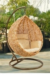 The Portia Wicker Hanging Swing Egg Chair Rattan In
