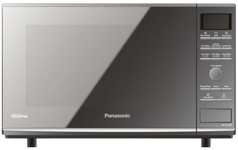 Panasonic 27L Flatbed Microwave Oven (Metallic Silver) ( NN-CF770M)