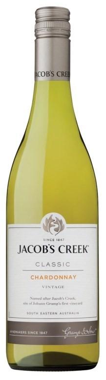 Jacob's Creek Classic Chardonnay 2019 (12 x 750mL), SE AUS.