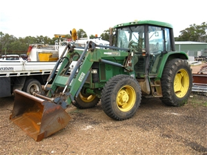 Tractor With Front End Loader John Deere 6210 Fwa