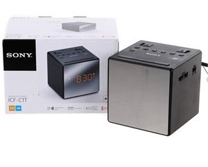 sony fm am clock radio model no icf c1t n b does not include back up bat auction. Black Bedroom Furniture Sets. Home Design Ideas