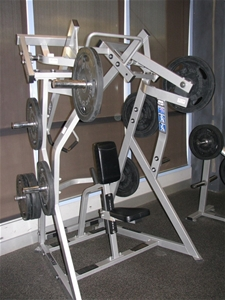 Hammer Strength ISO Lateral DY Row, grey powder coated metal construction w