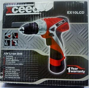Xceed EX10LCD 10mm Keyless Chuck Cordless Drill