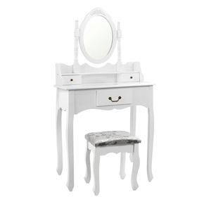 Artiss 3 Drawer Dressing Table with Mirr