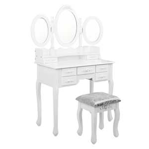 Artiss 7 Drawer Dressing Table with Mirr