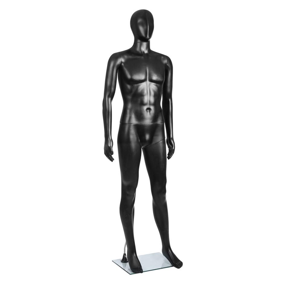 Full Body Male Mannequin Cloth Display Tailor Dressmaker Black 186cm