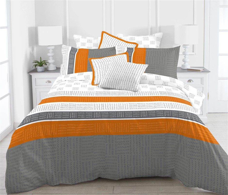Printed Quilt Cover Set Saldanha - DOUBLE