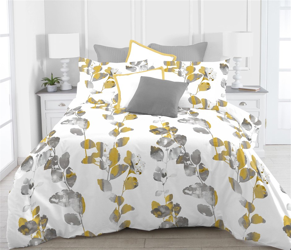 Printed Quilt Cover Set Liana Single