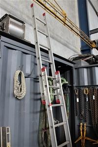 Alco Aluminium Extension Ladder - 12 Rung  (32599-40)
