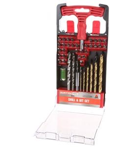 50pc Drill & Bit Set c/w Hand Screwdrive