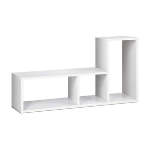 Artiss DIY L Shaped Display Shelf - Whit