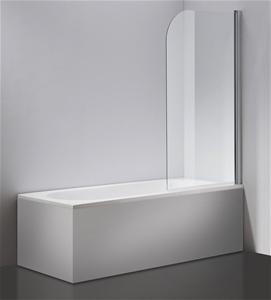 180° Pivot Door 6mm Safety Glass Bath Sh