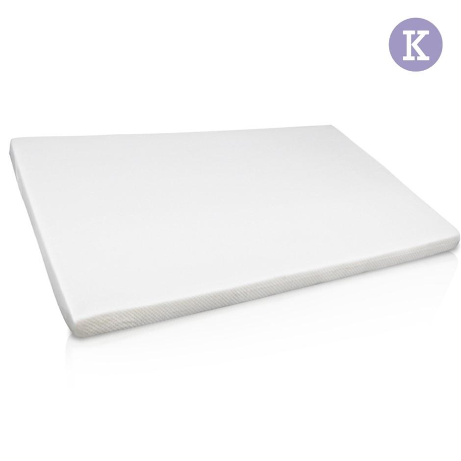 Visco Elastic Memory Foam Mattress Topper 7cm Thick King