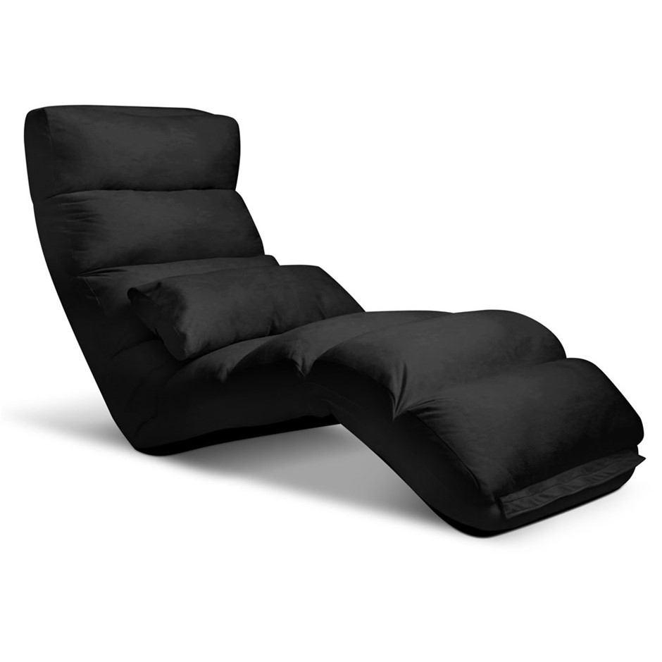 Artiss Adjustable Lounge Sofa Chair - Black