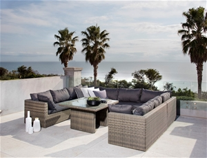 excalibur outdoor living roma u shaped lounge package auction