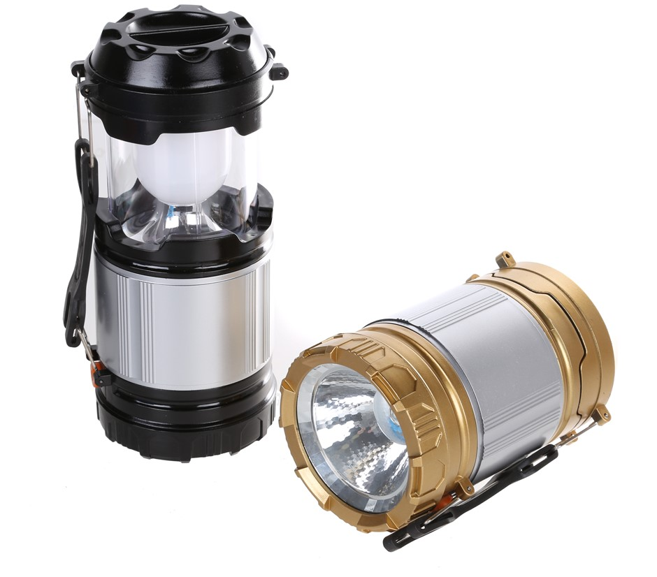 2 x LED Camping Lanterns, Extendable with Emergency Light. Buyers Note - Di