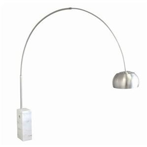 Large vintage replica eames era arco floor lamp retro white marble large vintage replica eames era arco flo mozeypictures Image collections