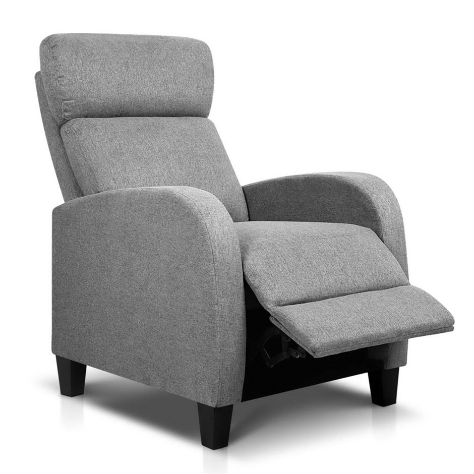 Artiss Fabric Reclining Armchair - Grey