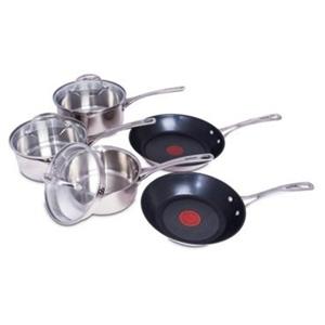 tefal 5 piece s steel easy strain cookware set induction. Black Bedroom Furniture Sets. Home Design Ideas