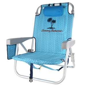 Stupendous Tommy Bahama Folding Beach Chair With Back Storage Pouches Pabps2019 Chair Design Images Pabps2019Com