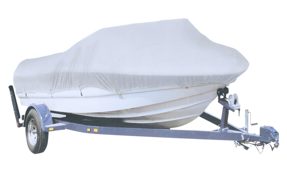 Boat Cover 24ft to 26ft, Silver Polyester Width 270cm c/w D-Buckles & Rope.