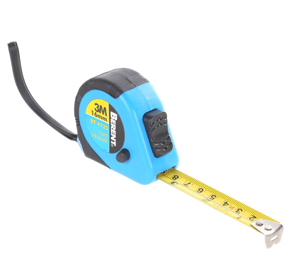 6 x BERENT Measuring Tapes, 3M x 16mm, Metric & Imperial Combo With Anti-Br