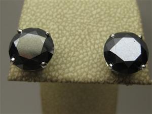 Rrv 2 597 3 96ct Black Diamond Stud E