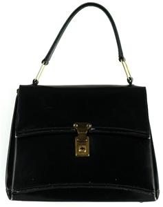 Sweet Vintage Las Black Leather Handb Handbag By Hollywood Handbags Sydney
