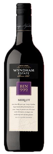 George Wyndham `Bin 999` Merlot 2018 (6 x 750mL), SE AUS.