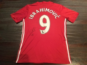 new style 7fb33 d4286 2016 Zlatan Ibrahimovic – Man United FC Personally Signed Jersey - with COA