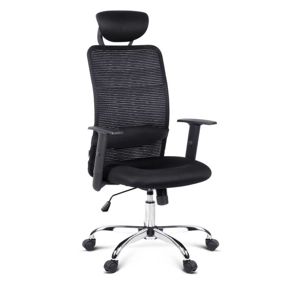 Mesh High Back Office Desk Chair - Black