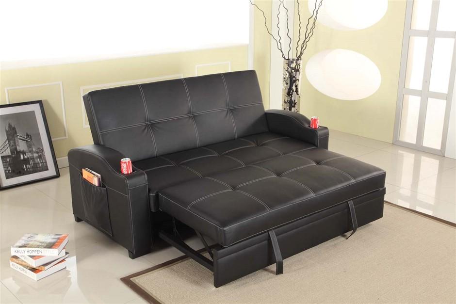 Maple Sofa Bed Black