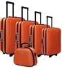 5pc Suitcase Trolley Travel Bag Luggage Set ORANGE