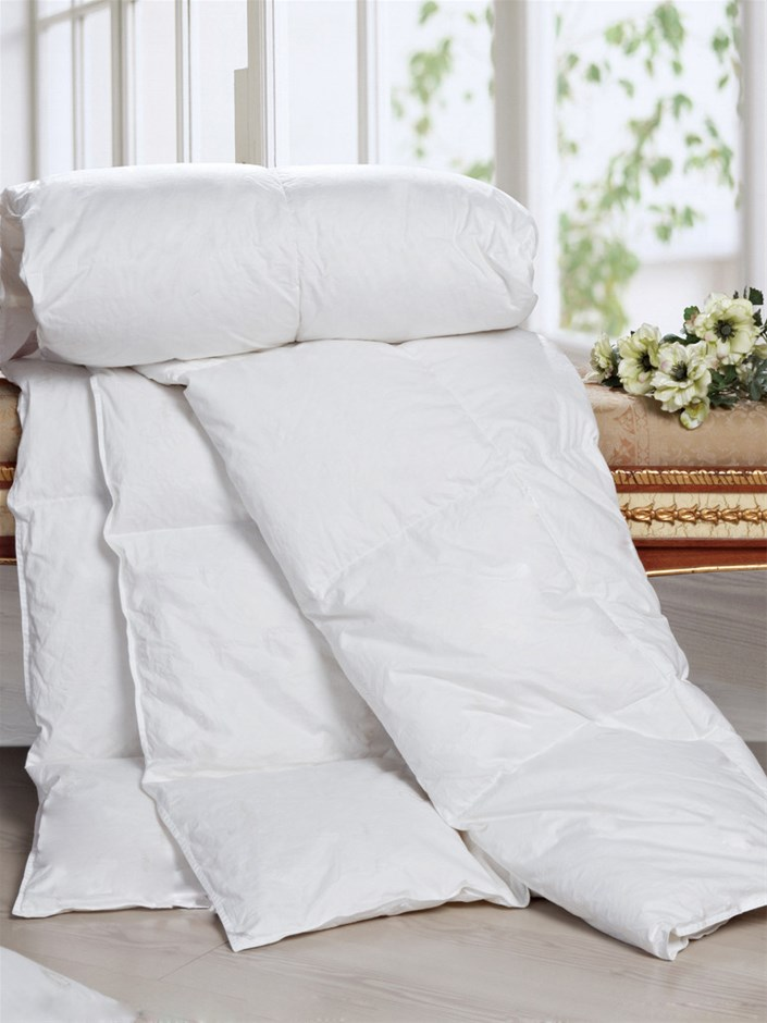 100% White Duck Feather Duvet / Doona /Quilt -Single