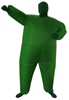 Go Green Inflatable Costume Fancy Dress Suit Fan Operated
